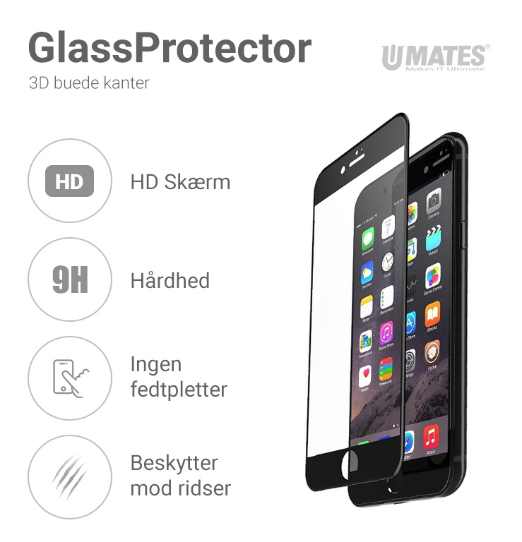 Umates GlassProtector IPhone Black Details